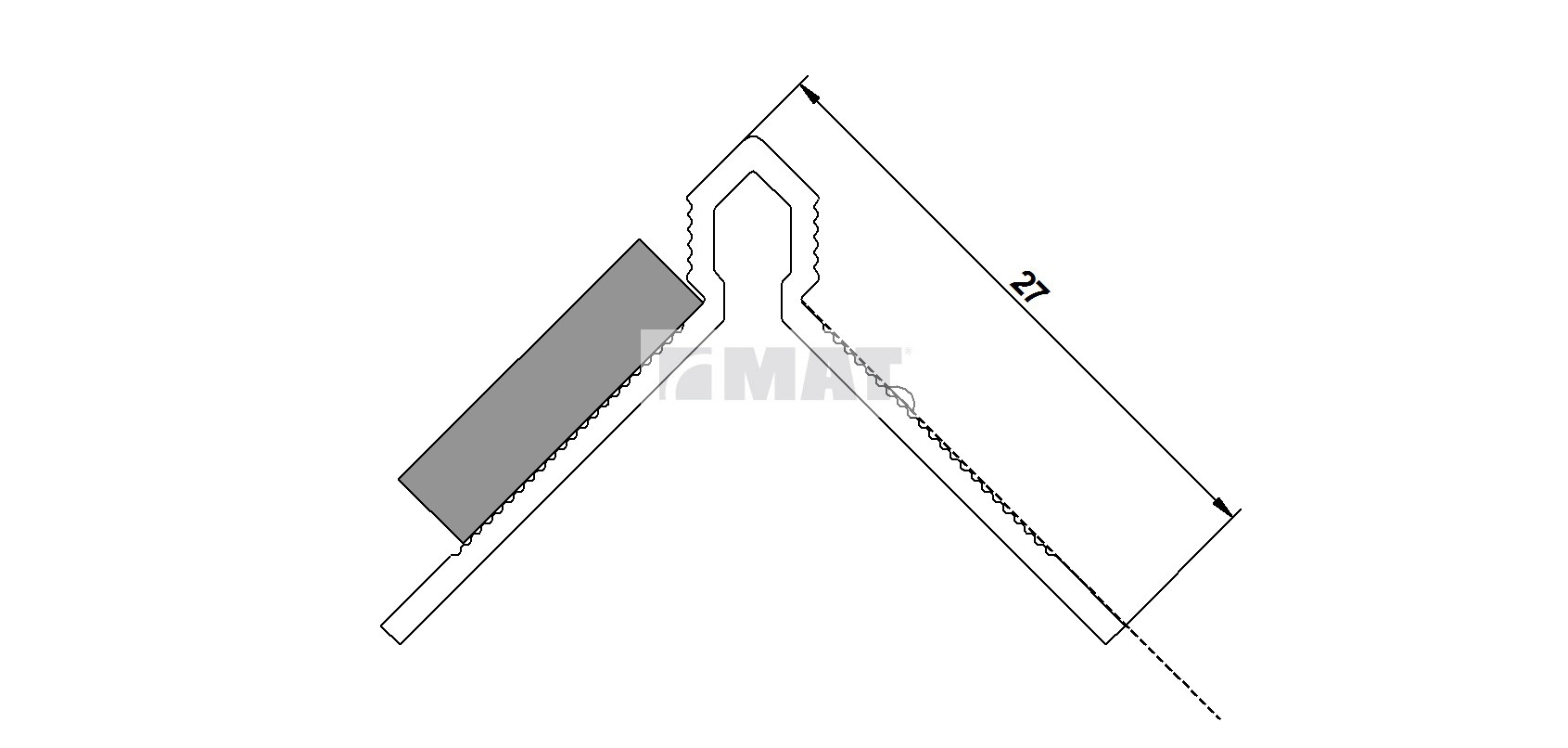 FLEXI under window-sill profile, code D/08