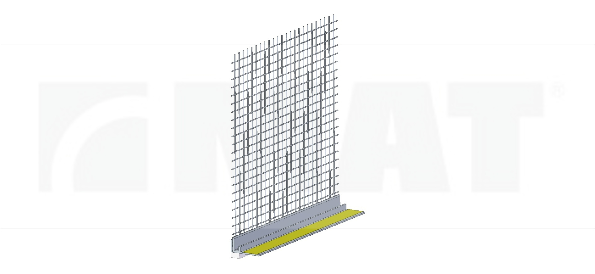 PVC profile for connecting to window with mesh, code A/03