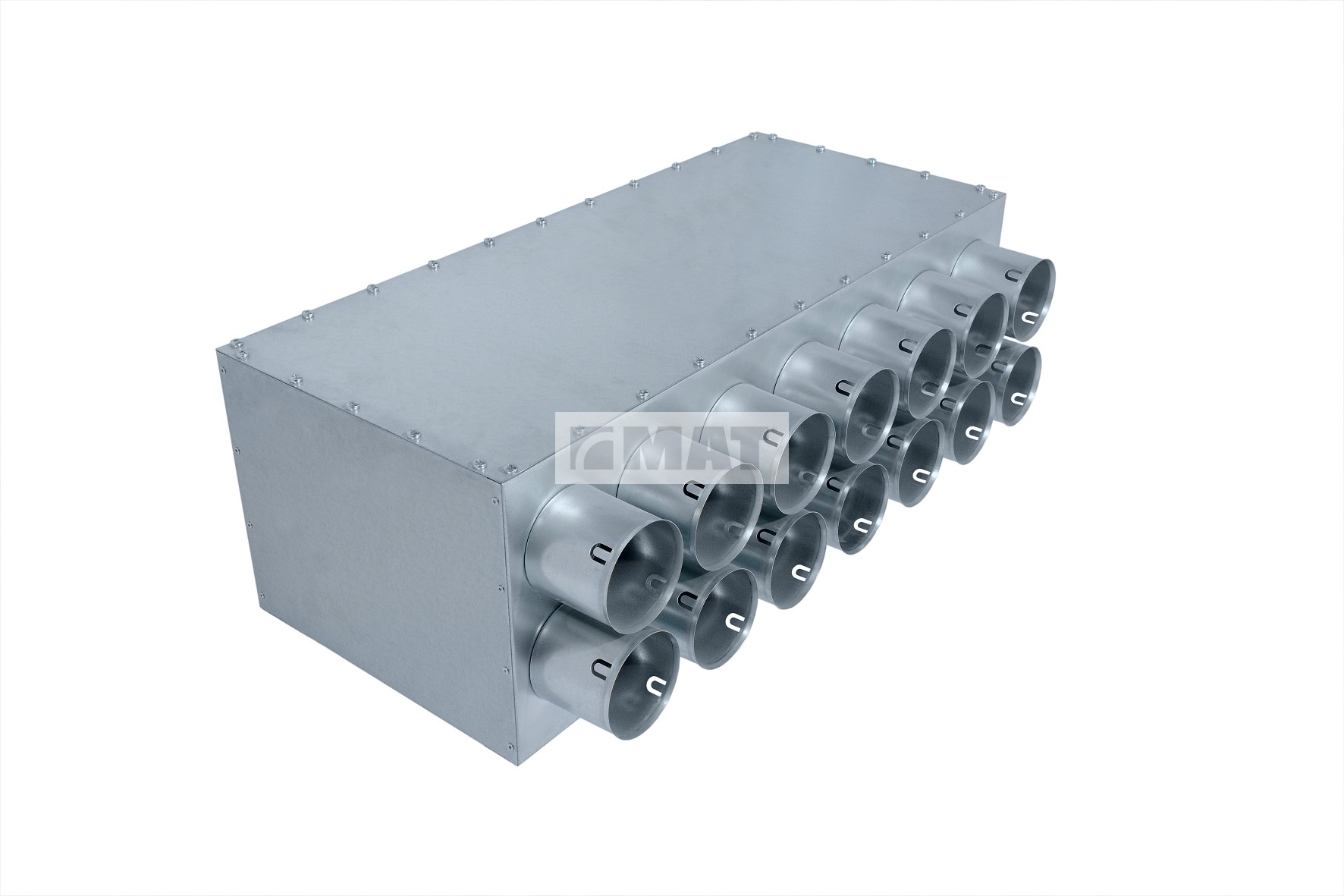 Direct distribution box, 14 outlets / inlets