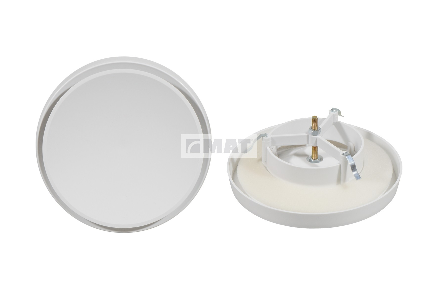 Plastic disc air supply and exhaust valve