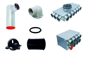 Flexible ventilation ducting accessories