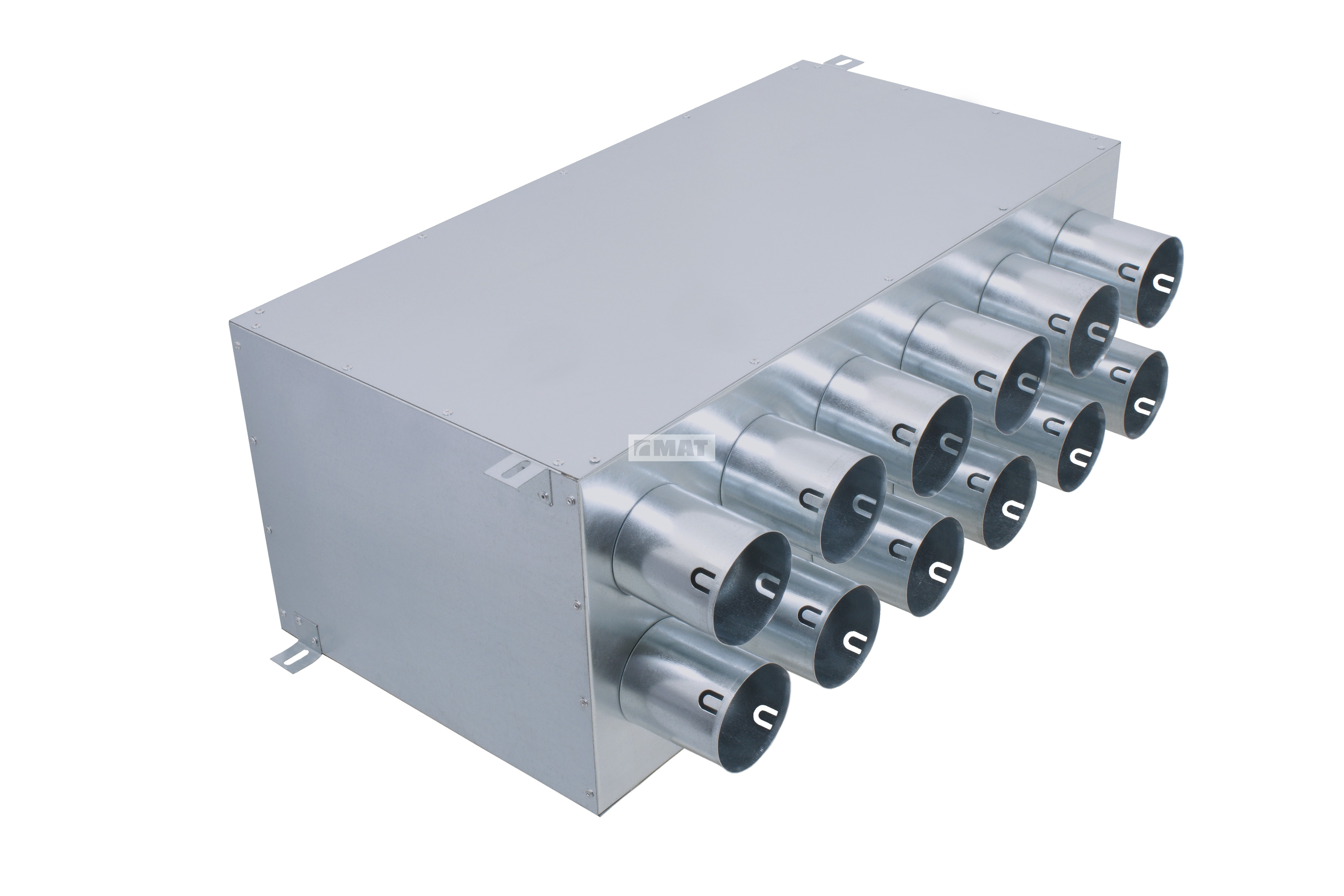 Direct distribution box, 12 outlets / inlets